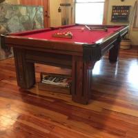 Beautiful Oak Pool Table