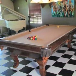 Pool Table-Leather Pockets!