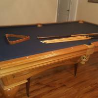 Pool Table Blue Felt