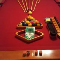 8' Maple Wood Pool Table For Sale