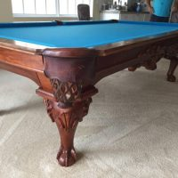 9' Peter Vitalie Chippendale Pool Table For Sale